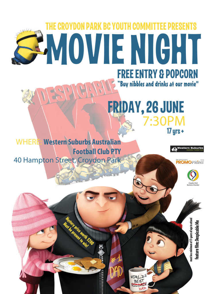 CP Youth Committee Movie Night Poster