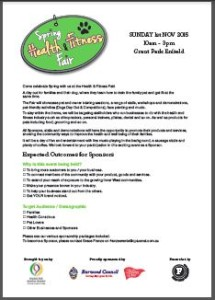 Spring Health & Fitness Sponsorship Form