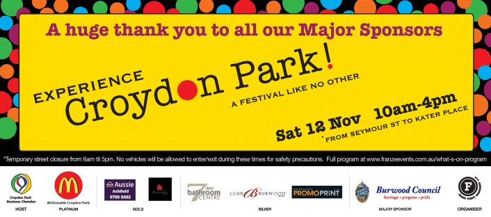 Experience Croydon Park Festival Major Sponsors