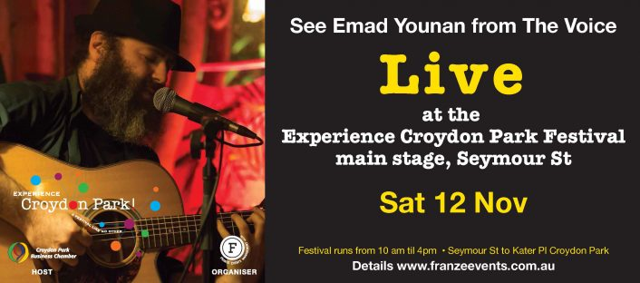 Emad Younan live at Experience Croydon Park Festival