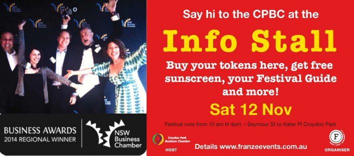 For all your queries about the Festival on the day, visit the Info Stall