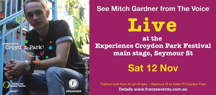 Mitch Gardner Live at Experience Croydon Park Festival