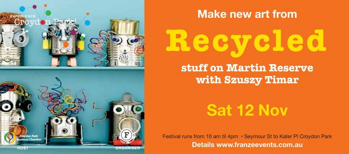 Recycled Art on Martin Reserve Seymour St Croydon Park