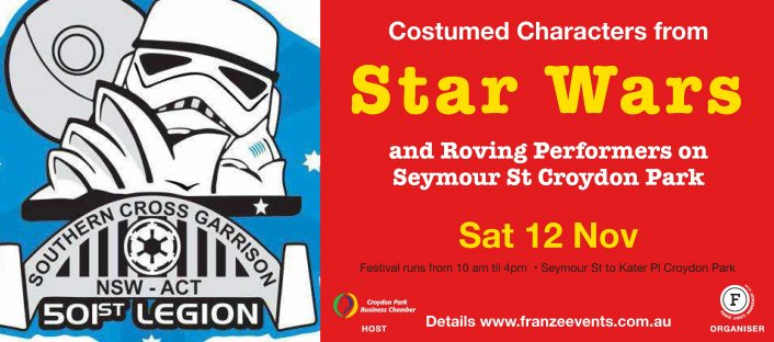 Storm Troopers and other Costumed Characters at the Experience Croydon Park Festival